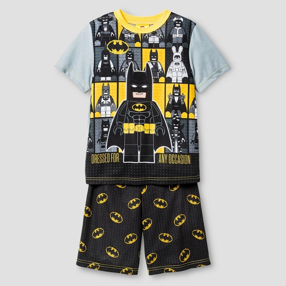 Boys Pajama Set Gray - Lego Batman, Size: Medium, Black