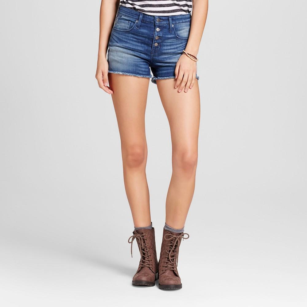 Womens Jean High-rise Shorts - Mossimo Dark Wash 0, Blue