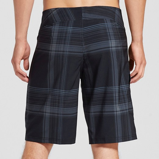 Men's Board Shorts Black Plaid - Mossimo Supply Co.™ : Target
