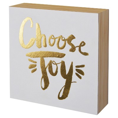 Choose Joy Wood Flushmount (6 x6 )