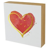 "Heart Wood Flushmount (6""x6""). opens in a new tab."