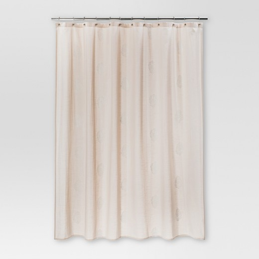 Paisley Shower Curtain Blush