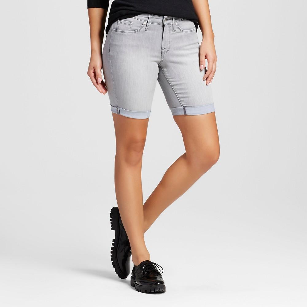 Womens Mid Rise Bermuda Short - Mossimo Grey 00, Gray