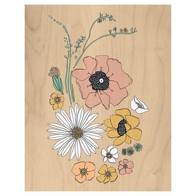 Leah Duncan Desert Bouquet Wood Flushmount (11 x14 )
