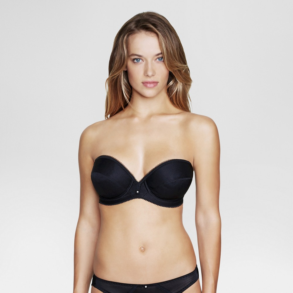 Dominique Low Plunge Strapless Bridal Bra #8103 - Black 38D, Womens