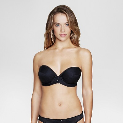 Dominique Women's Low Plunge Strapless Bridal Bra #8103 - Black 36B