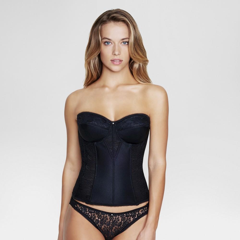 Dominique Womens Lace Corset Bridal Bra #8949 - Black 42B
