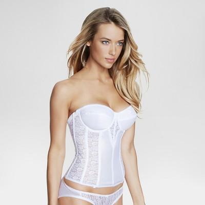 Dominique Women's Lace Corset Bridal Bra #8949 - White 44C