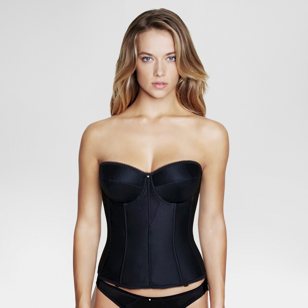 Dominique Womens Satin Corset Bridal Bra #8950 - Black 40D
