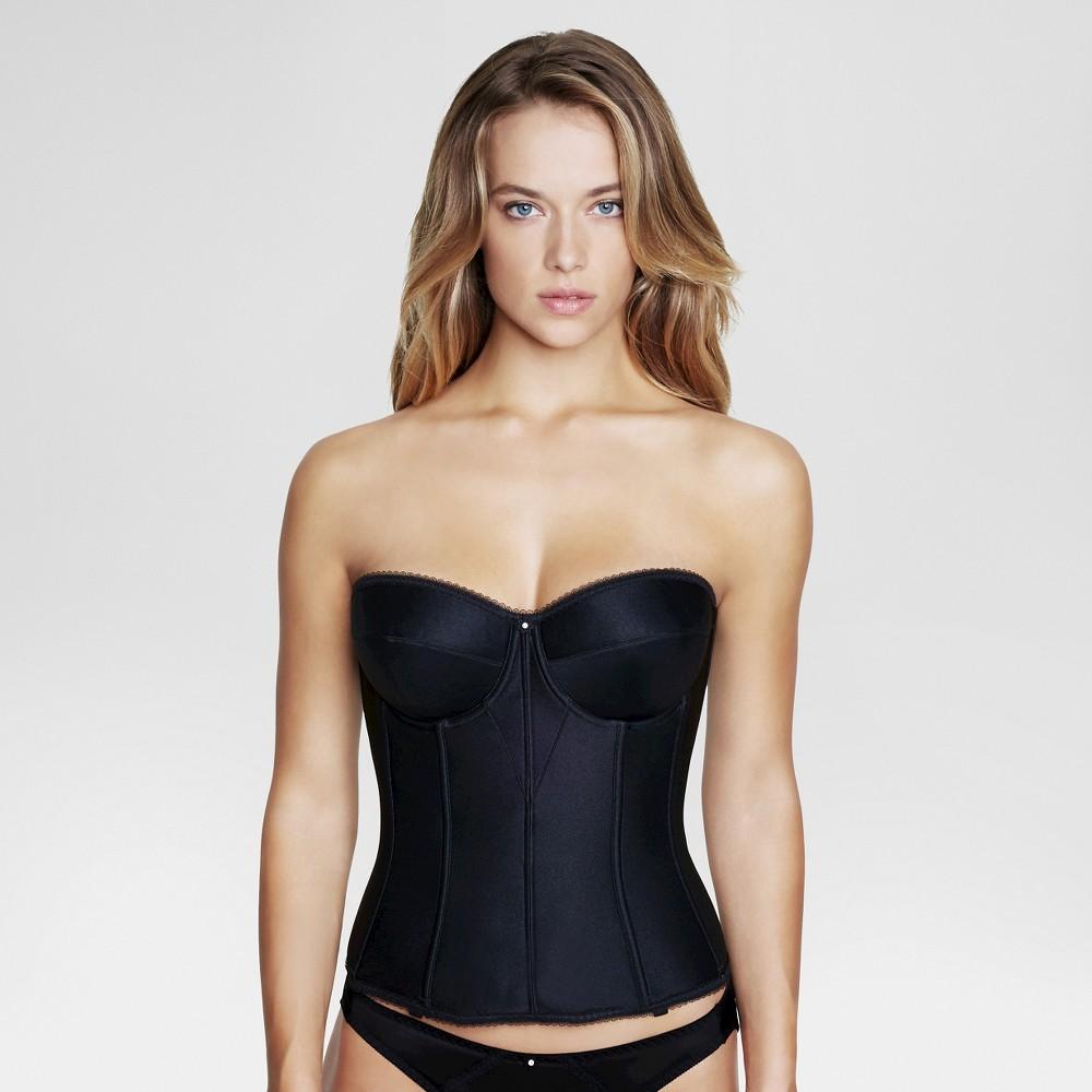 Dominique Women's Satin Corset Bridal Bra #8950 - Black 34C plus size,  plus size fashion plus size appare