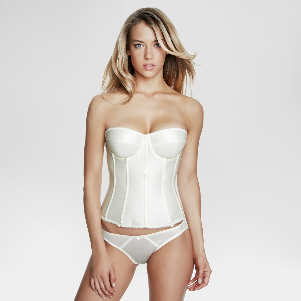 Dominique Womens Satin Corset Bridal Bra #8950 - Ivory 34D