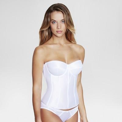 Dominique Women's Satin Corset Bridal Bra #8950 - White 44F