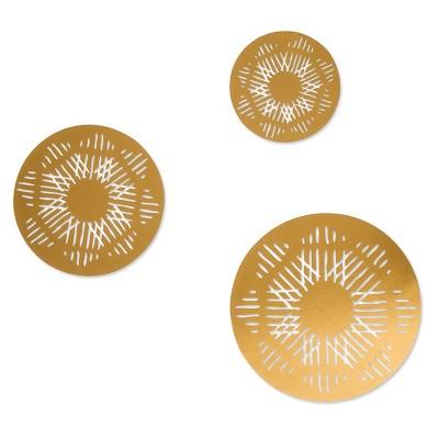 Gold Medallion Wall Decals   Nate Berkus™