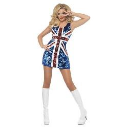 Women's All That Glitters Rule Britannia Union Jack Costume