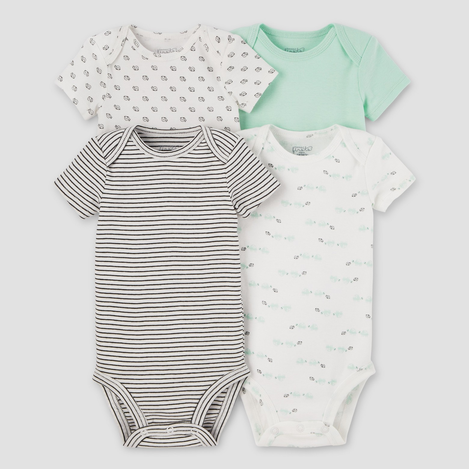 Baby 4pk Bodysuits Mint - Precious Firsts™ Made by Carter's® : Target