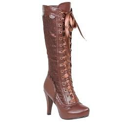 Halloween Women's Steampunk Boots Brown