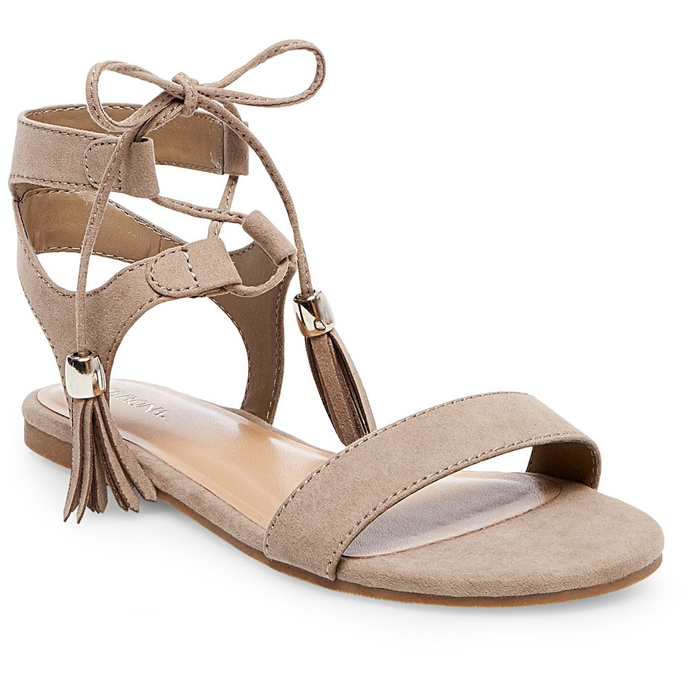 Womens Mavis Gladiator Sandals - Merona Taupe (Brown) 7.5