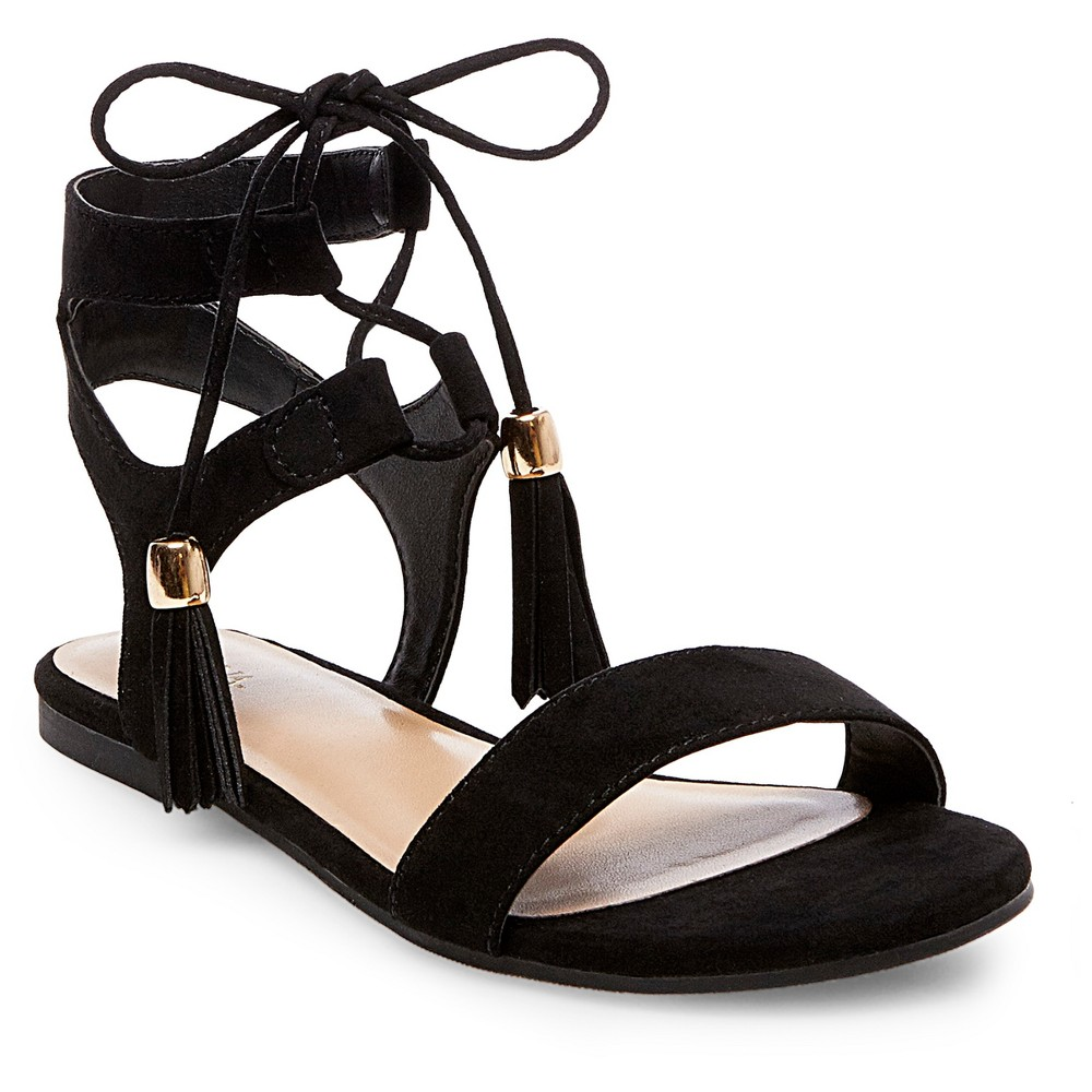 Womens Mavis Gladiator Sandals - Merona Black 5.5
