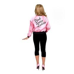 Women's Pink Satin Ladies Jacket Plus Costume