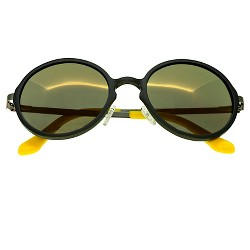 Breed Men's Corvus Polorized Sunglasses with Aluminum Frame and Arms
