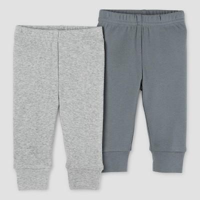 Baby Boys' 2pk Pants Light Gray/Dark Gray 6M - Precious Firsts™ Made by Carter's®