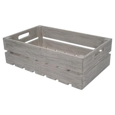 Wooden Garden Storage Box, Gray - Threshold™