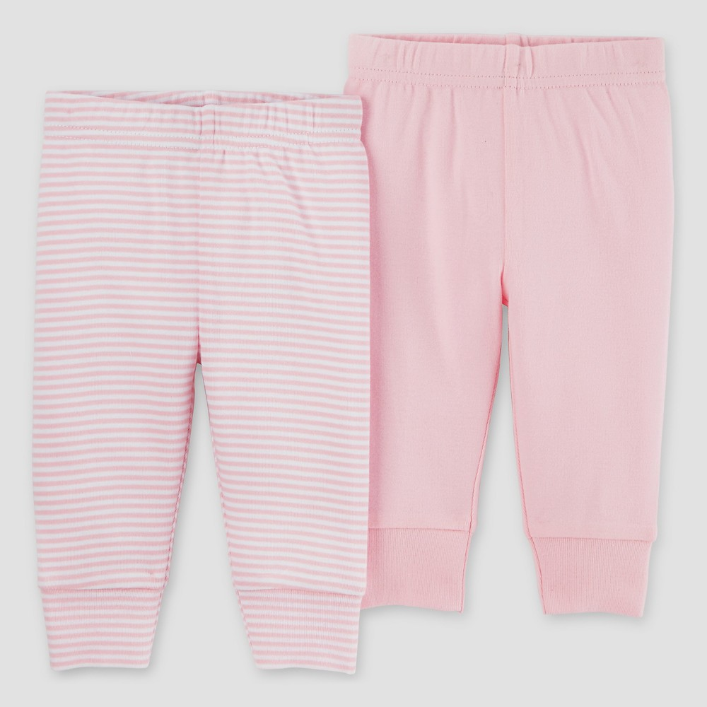 Baby Girls 2pk Pants Rose 3M - Precious Firsts Made by Carters, Size: 3 M, Pink