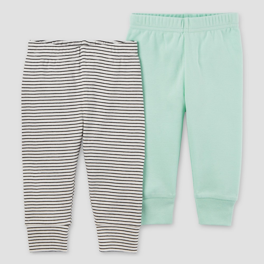 Baby 2pk Pants Mint Green Pre - Precious Firsts Made by Carters, Infant Unisex, Size: Preemie