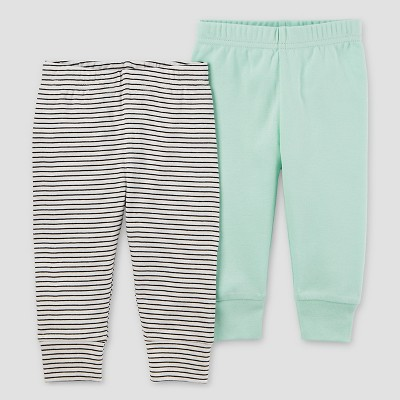 Baby 2pk Pants Mint Green 9M - Precious Firsts™ Made by Carter's®