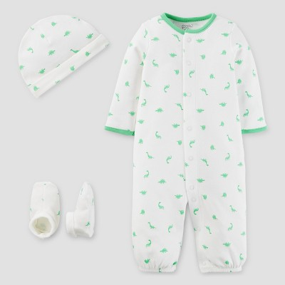 Baby Boys' 3 Piece Converter Gown Set Green 3M - Precious Firsts™ Made by Carter's®