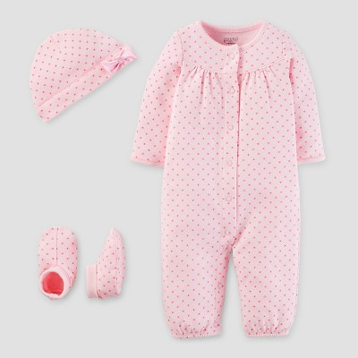 Baby Girls' 3 Piece Converter Gown Set Blush 3M - Precious Firsts™ Made by Carter's®