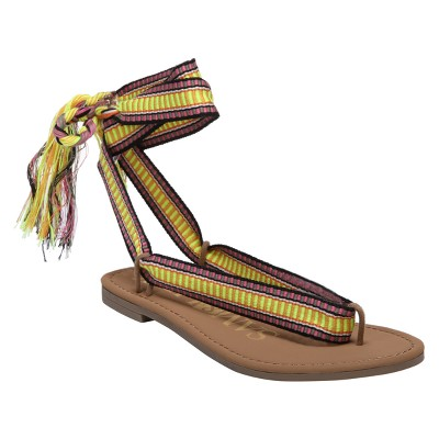 Women's Sam & Libby Blossom Braided Wrap Gladiator Sandals