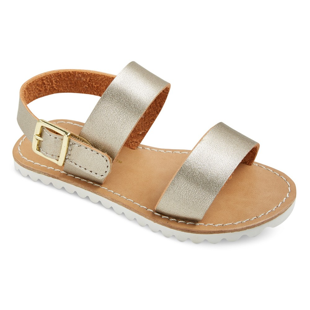 Toddler Girls Patina Two Piece Banded Slide Sandals Cat & Jack - Gold 11