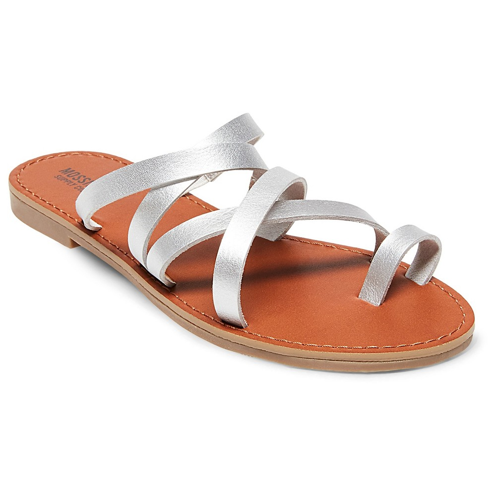 Womens Lina Slide Sandals - Mossimo Supply Co. Silver 5.5
