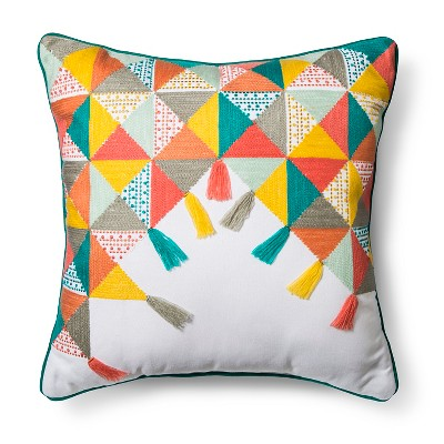 Colorful Triangles Throw Pillow (18 x18 )- Pillowfort™