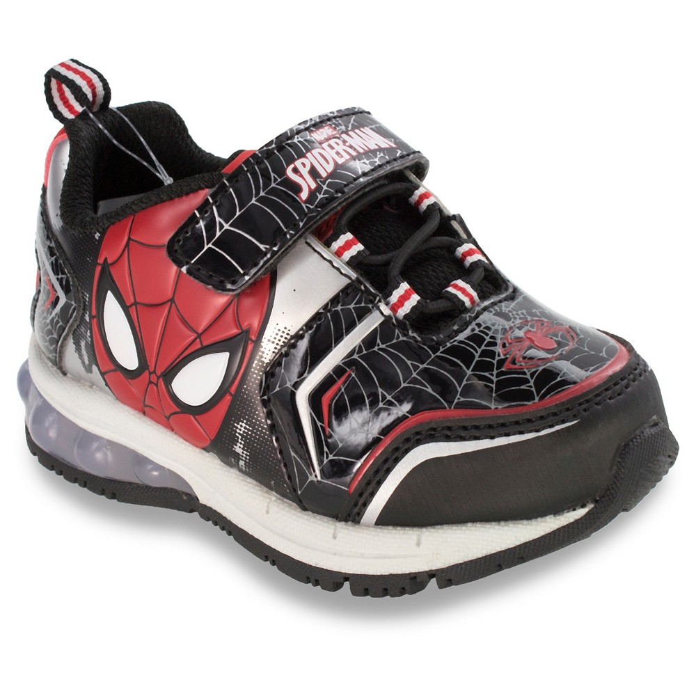 Spider-Man Toddler Boys' Athletic Sneakers - Black 13