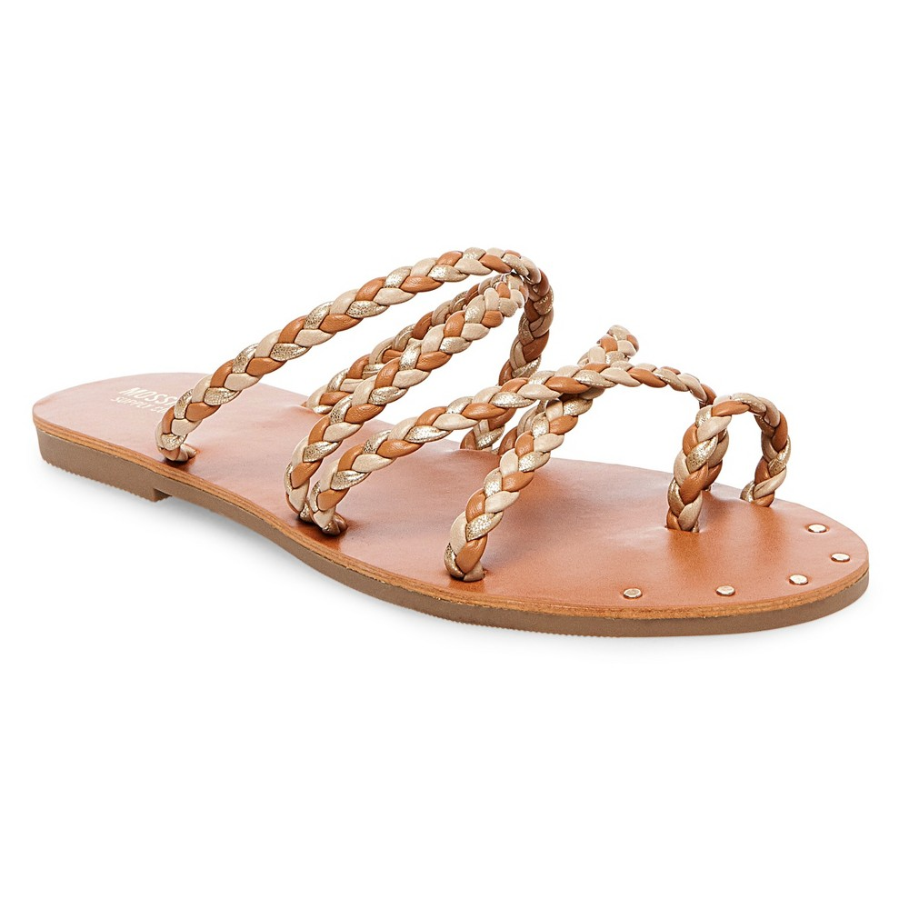 Womens Eleanore Slide Sandals - Mossimo Supply Co. Natural 5.5