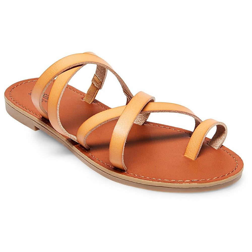 Womens Lina Slide Sandals - Mossimo Supply Co. Tan 7.5