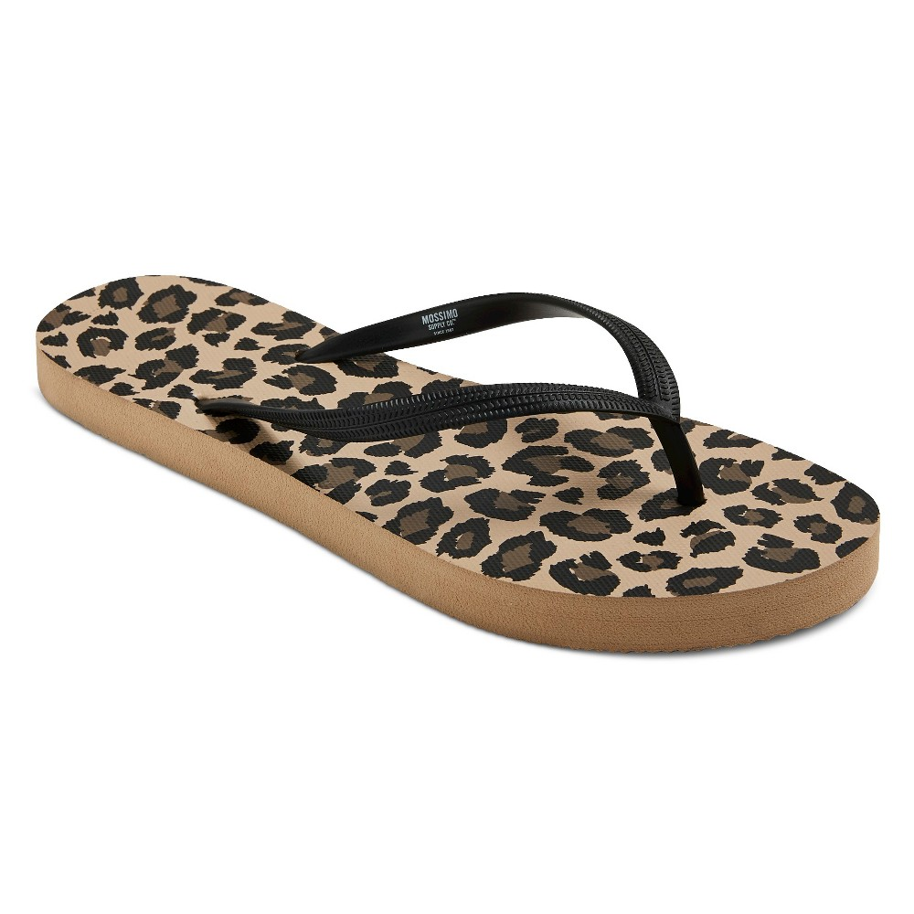 Womens Letty Flip Flop Sandals - Mossimo Supply Co. Leopard M