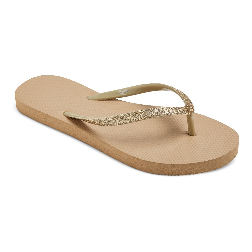 Womens Letty Flip Flop Sandals - Mossimo Supply Co. Gold L
