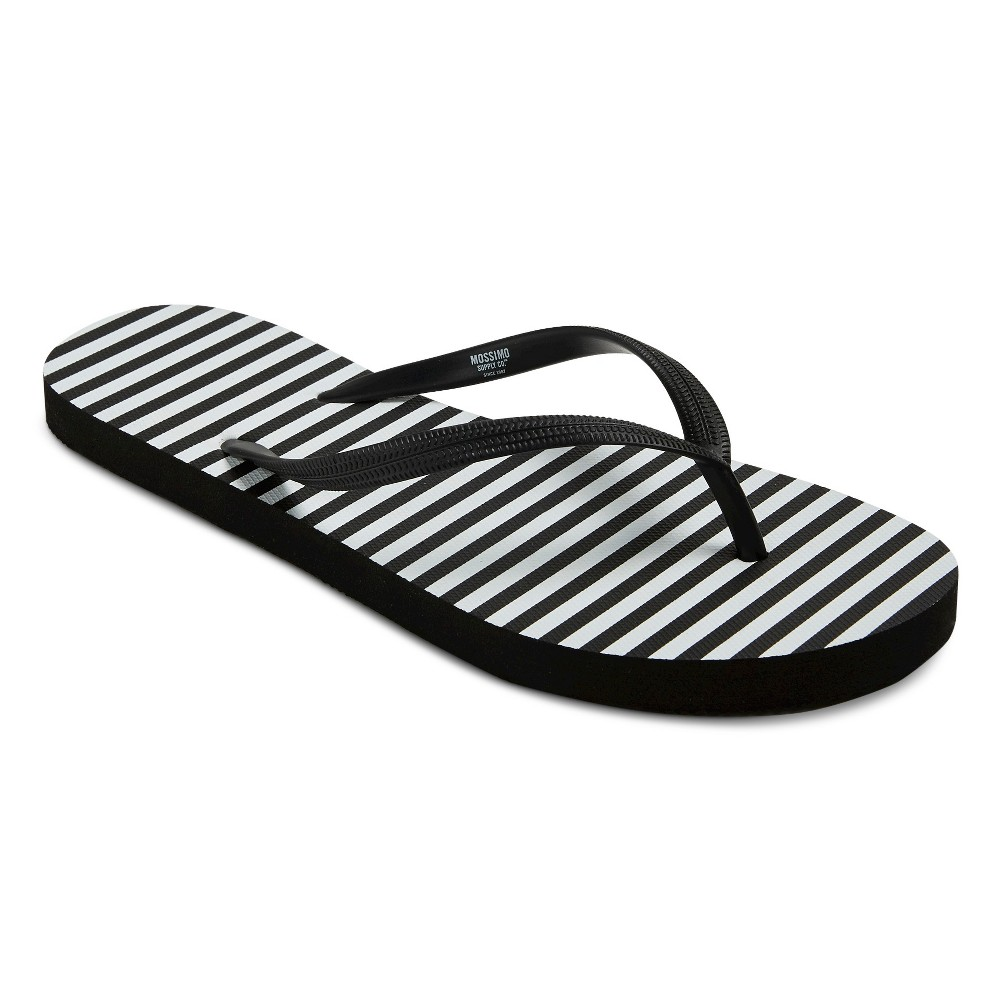 Womens Letty Flip Flop Sandals - Mossimo Supply Co. Black/White L