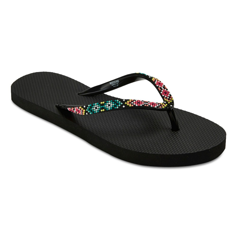 Womens Letty Flip Flop Sandals - Mossimo Supply Co. Black L