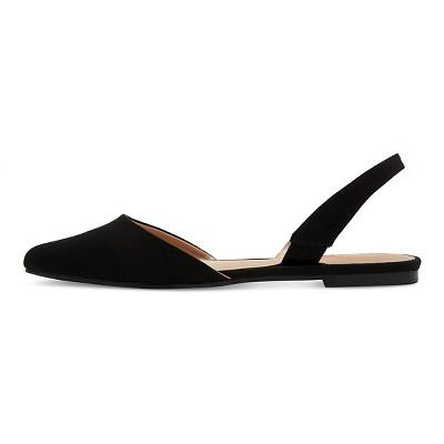Women's Kathy Pointed Toe Slingback Ballet Flats Merona - Black 6.5