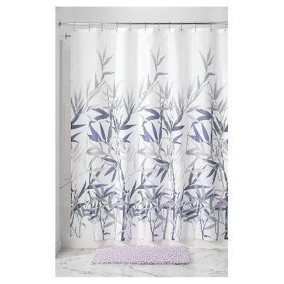 Anzu Floral Shower Curtain   InterDesign®  Purple And Grey Shower Curtain