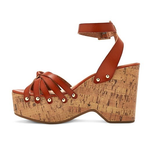 Women's Erie Wood Flatform Wedge Sandals Mossimo Supply Co.™ : Target