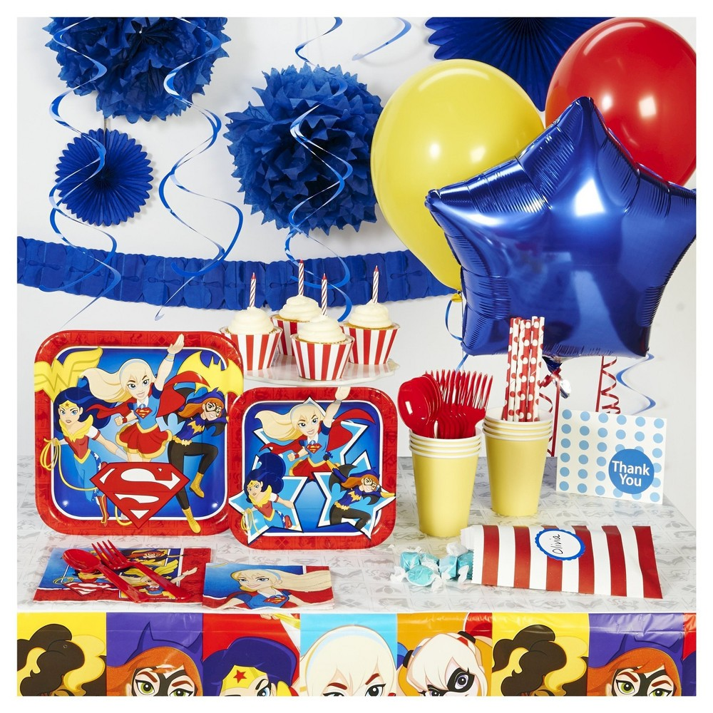 DC Hero Girl Super Deluxe Party Pack, Multicolored