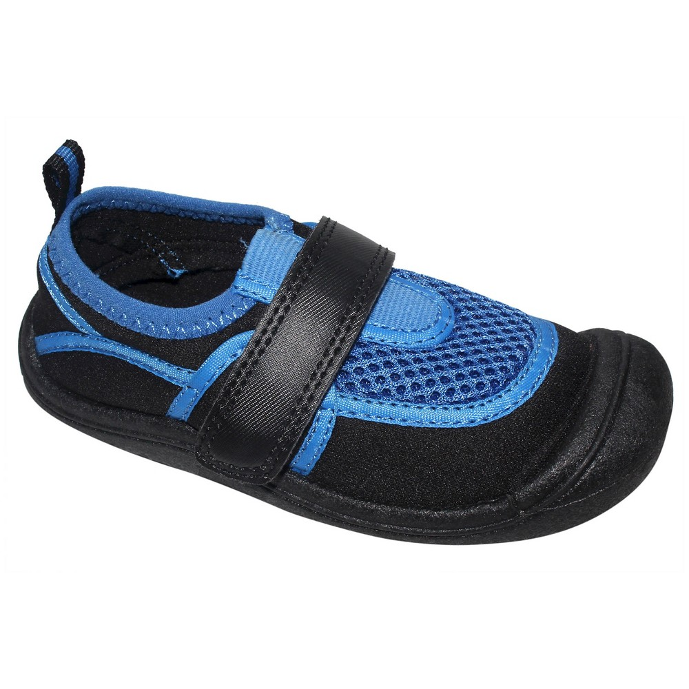 Toddler Boys Duke Water Shoes Cat & Jack - Black/Blue S (5-6), Black Blue