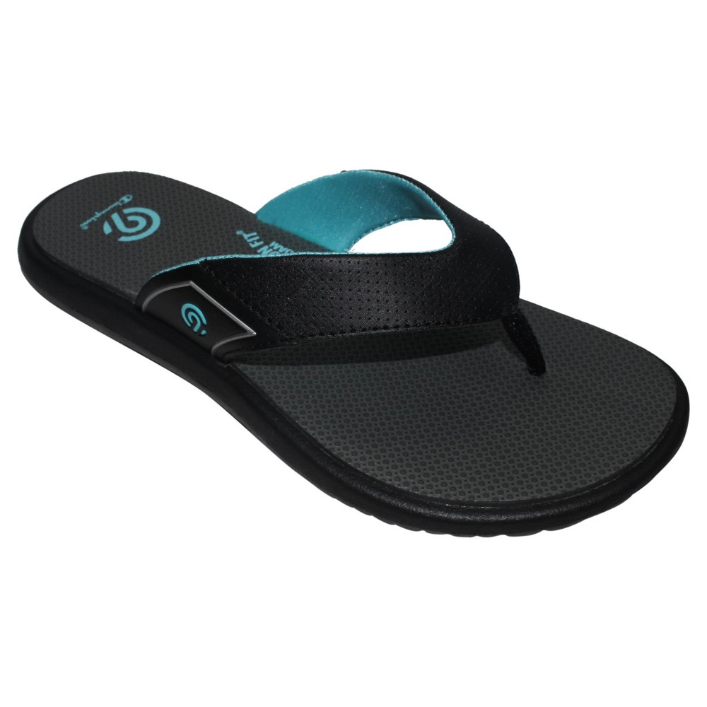 Womens Chantel Sporty Flip Flop Sandals - C9 Champion Black/Blue 11