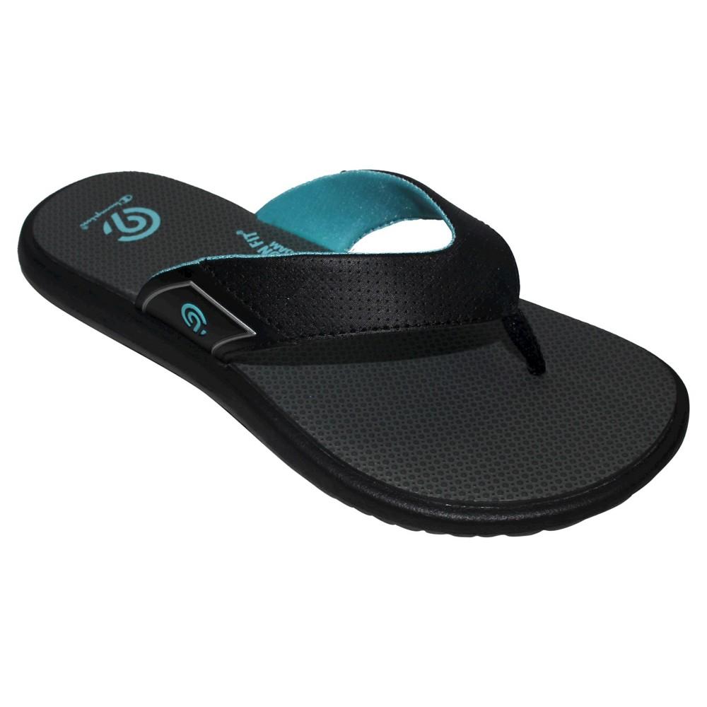 Womens Chantel Sporty Flip Flop Sandals - C9 Champion Black/Blue 6