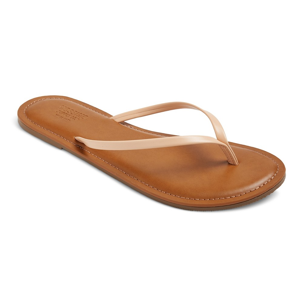 Womens Rowen Flip Flop Sandals - Mossimo Supply Co. Tan M, Size: 7